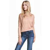 H&M Cienki sweter 0459889001 Beżowy