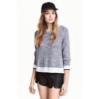 H&M Sweter 0454062007 Czarny melanż