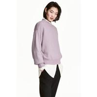 H&M Sweter 0447112002 Jasnofioletowy melanż
