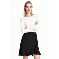 H&M Dopasowany sweter 0461749004 Biały