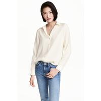 H&M Bluzka z długim rękawem 0478735005 Naturalna biel