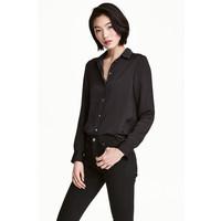 H&M Bluzka z długim rękawem 0478735005 Ciemnoszary