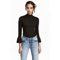 H&M Cienki sweter 0459710003 Czarny