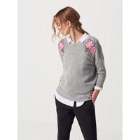 Mohito Miękki sweter z wyszywaną aplikacją RB979-09X