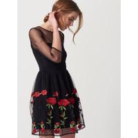 Mohito Tiulowa sukienka z kwiatowym haftem RF247-99X