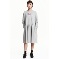 H&M Dresowa sukienka 0462643001 Szary melanż