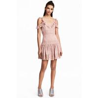 H&M Koronkowa sukienka 0486666001 Szaroróżowy