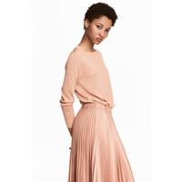 H&M Cienki sweter 0468535002 Pudroworóżowy