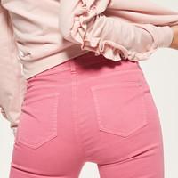 Reserved Dopasowane spodnie z zamkami RB655-42X