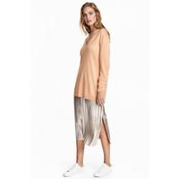 H&M Plisowana spódnica 0519771001 Srebrny