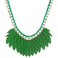 sweet deluxe GEERTJE Naszyjnik silver-coloured/green 2SW51L014
