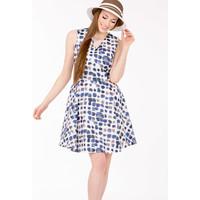 Monnari Sukienka w barwne plamki SUKIMP0-17L-DRE1260-KM12D700-R36