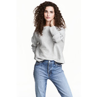 H&M Cienki sweter 0475438002 Jasnoszary melanż