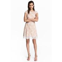 H&M Koronkowa sukienka 0497760001 Pudrowy/Biały