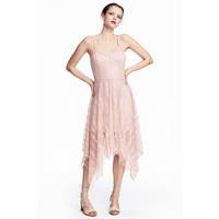 H&M Koronkowa sukienka 0487724001 Pudroworóżowy