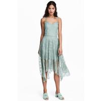 H&M Koronkowa sukienka 0487724001 Bladozielony