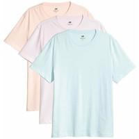 H&M T-shirt Regular fit 3-pak 0513699005 Fioletowy