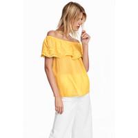 H&M Bluzka 0566142002 Żółty