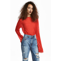 H&M Sweter o luźnym splocie 0506632002 Czerwony