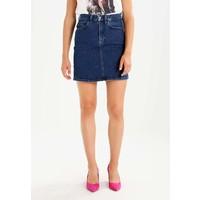 Calvin Klein Jeans TIPP Spódnica jeansowa tipped blue C1821B01F