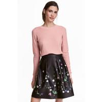 H&M Sweter z domieszką wełny 0515221002 Pudroworóżowy