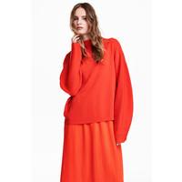 H&M Cienki sweter 0519737006 Jaskrawoczerwony