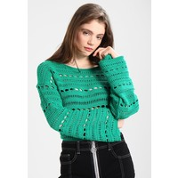 Topshop OPEN WIDE SLEEVE Sweter green TP721I0EN