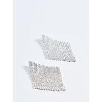 Mohito Geometryczne kolczyki z kryształkami TC925-SLV