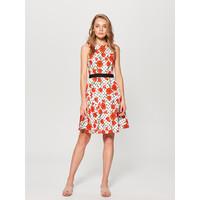 Mohito Bawełniana sukienka w kwiaty UL462-MLC