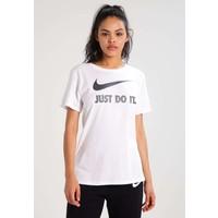 Nike Sportswear TEE CREW T-shirt z nadrukiem white/black NI121D092