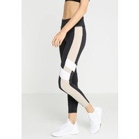 Reebok LUX COLOR BLOCK Legginsy black/beige RE541E08Q
