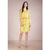 Lauren Ralph Lauren POLY CRINKLE TIE NECK DRESS Sukienka letnia yellow L4221C0K9