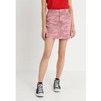 Topshop CAMO SKIRT Spódnica jeansowa pink TP721B0CW