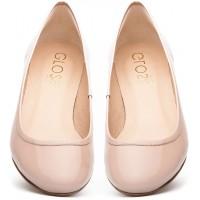 Gloss Shoes Lakierowane baleriny nude