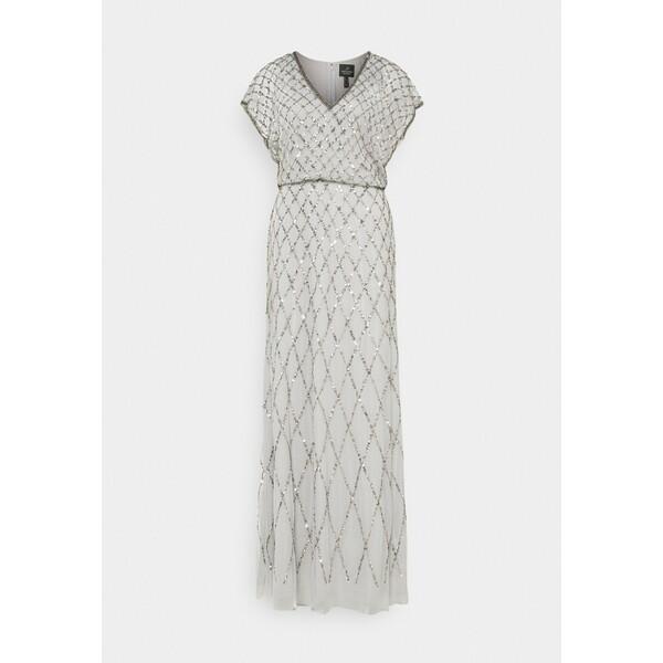 Adrianna Papell BLOUSON BEADED DRESS Suknia balowa bridal silver AD421C0CU