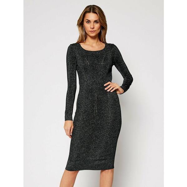 Patrizia Pepe Sukienka koktajlowa 8A0780/A7I6-J2LP Szary Slim Fit