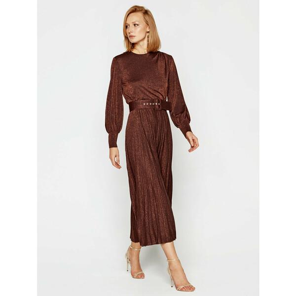 Marella Sukienka koktajlowa Kibbutz 36260208 Brązowy Regular Fit
