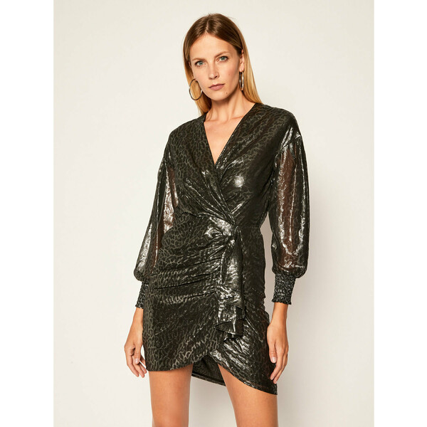 Pinko Sukienka koktajlowa Cachaca Al 20-21 BLK01 1G15AP Y6DL Srebrny Regular Fit