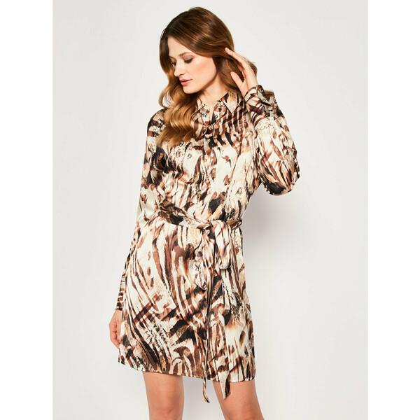 Marciano Guess Sukienka koszulowa Sandscape 0GG757 7099Z Brązowy Regular Fit