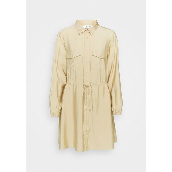 EDITED DRESS Sukienka koszulowa beige EDD21C0BX