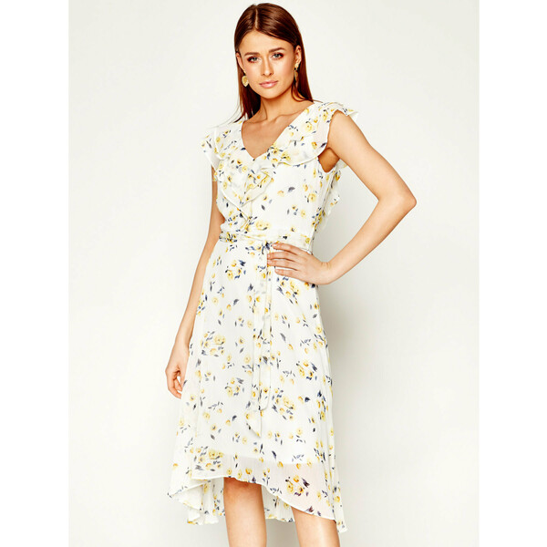 DKNY Sukienka letnia DD0BG414 Biały Regular Fit