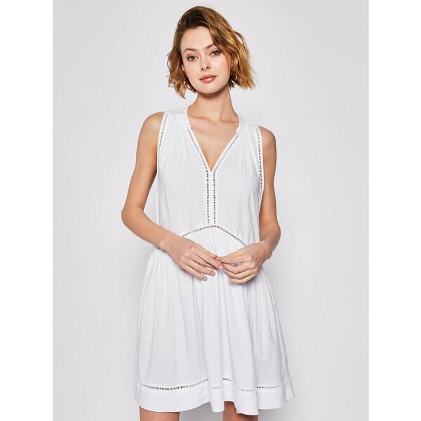 Seafolly Sukienka plażowa Beach Basics 52931-DR Biały Regular Fit