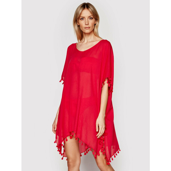 Seafolly Sukienka plażowa Amnesia 52162 Różowy Regular Fit
