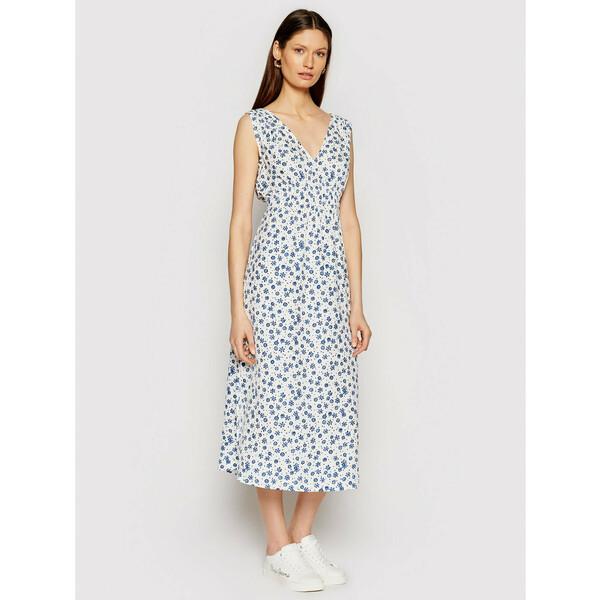 Pepe Jeans Sukienka letnia Lou PL952844 Biały Regular Fit