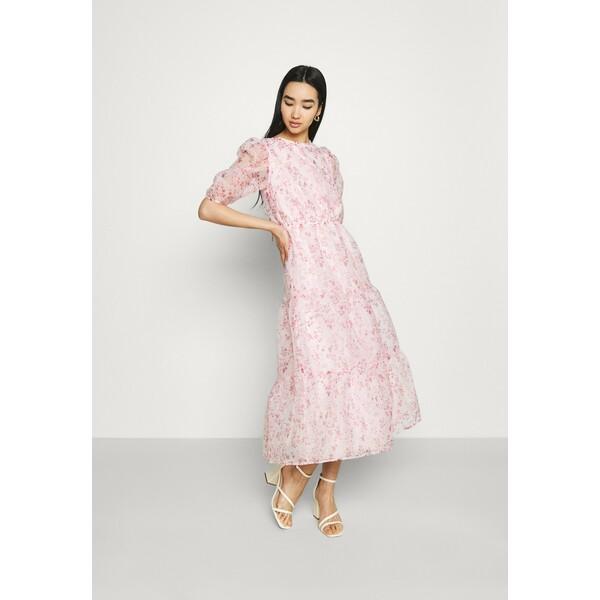 Missguided FLORAL TIE BACK SMOCK DRESS Sukienka koktajlowa pink M0Q21C1XP