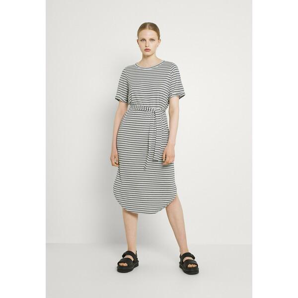 Vero Moda VMALONA 2/4 CALF DRESS Sukienka z dżerseju navy blazer/white VE121C2RH