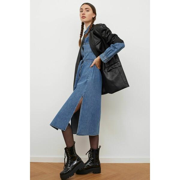 H&M Sukienka dżinsowa 0957942001 Niebieski denim