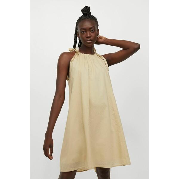 H&M Sukienka bez rękawów 0988624002 Jasnożółty
