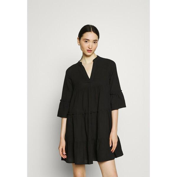 Vero Moda VMHELI 3/4 WVN GA COLOR Sukienka letnia black VE121C2O8