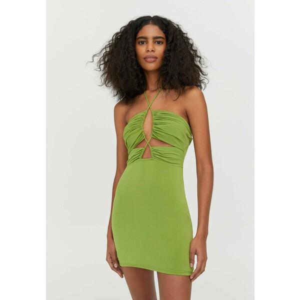 PULL&BEAR Sukienka etui light green PUC21C0LW